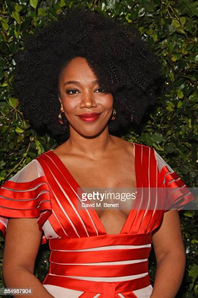Naomi Ackie attends the London Evening Standard Theatre Awards 2017 at the Theatre Royal Drury Lane on December 3 2017 in London England