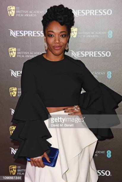 Naomi Ackie attends the Nespresso British Academy Film Awards nominees party at Kensington Palace on February 9 2019 in London England