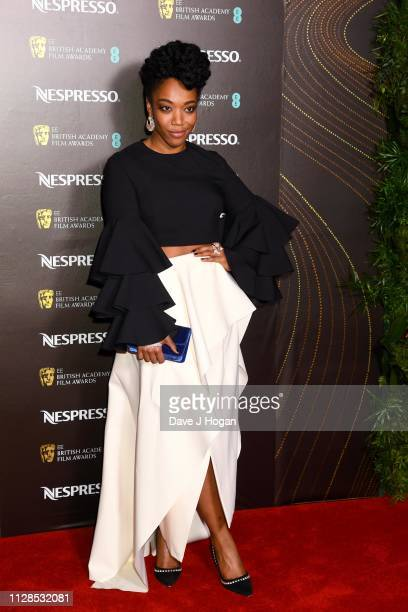 Naomi Ackie attends the Nespresso British Academy Film Awards nominees party at Kensington Palace on February 09 2019 in London England