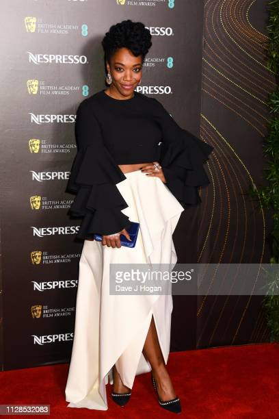 Naomi Ackie attends the Nespresso British Academy Film Awards nominees party at Kensington Palace on February 09, 2019 in London, England.