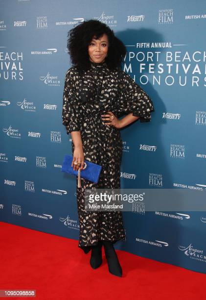 Naomi Ackie attends the Newport Beach Film Festival UK honours event at The Langham Hotel on February 7 2019 in London England