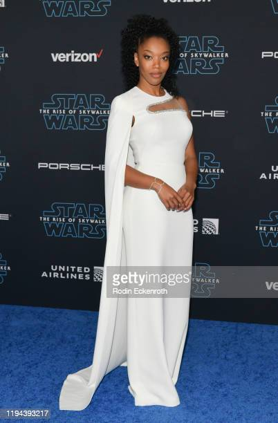 Naomi Ackie attends the Premiere of Disney's Star Wars The Rise Of Skywalker on December 16 2019 in Hollywood California