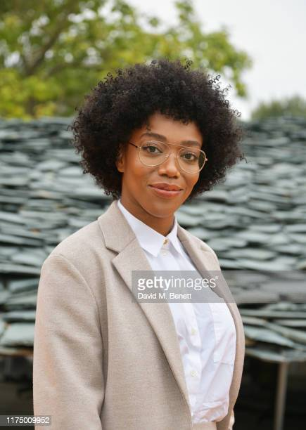 Naomi Ackie attends the Roksanda front row during London Fashion Week September 2019 at The Serpentine Gallery on September 16 2019 in London England