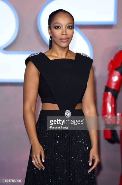 Naomi Ackie attends the Star Wars The Rise of Skywalker European Premiere at Cineworld Leicester Square on December 18 2019 in London England