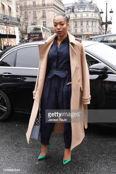 Naomi Ackie attends the Stella McCartney show as part of the Paris Fashion Week Womenswear Fall/Winter 2020/2021 on March 02 2020 in Paris France
