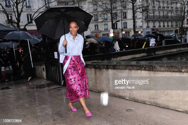 Naomi Ackie attends the Valentino show as part of the Paris Fashion Week Womenswear Fall/Winter 2020/2021 on March 01 2020 in Paris France