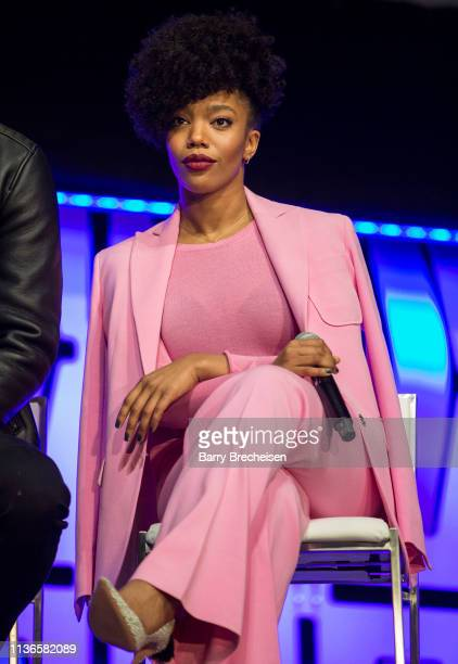 Naomi Ackie during the Star Wars Celebration at the Wintrust Arena on April 12 2019 in Chicago Illinois
