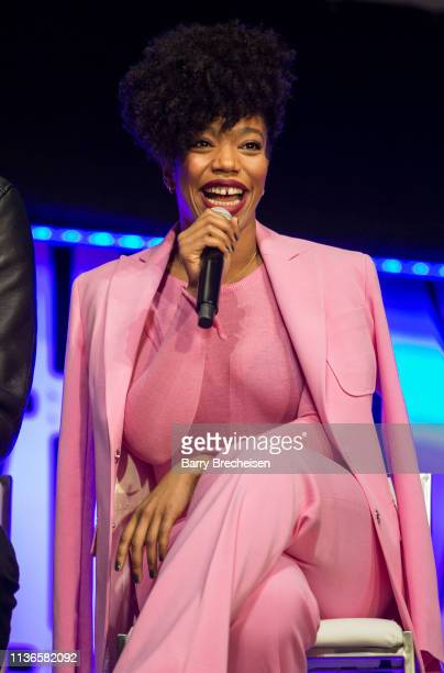 Naomi Ackie during the Star Wars Celebration at the Wintrust Arena on April 12, 2019 in Chicago, Illinois.
