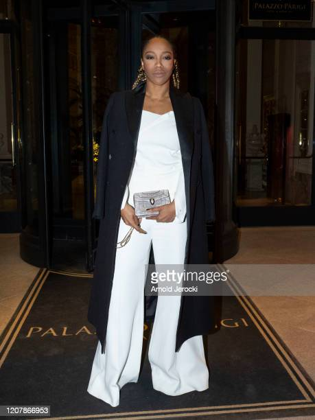 Naomi Ackie is seen during Milan Fashion Week Fall/Winter 20202021 on February 21 2020 in Milan Italy