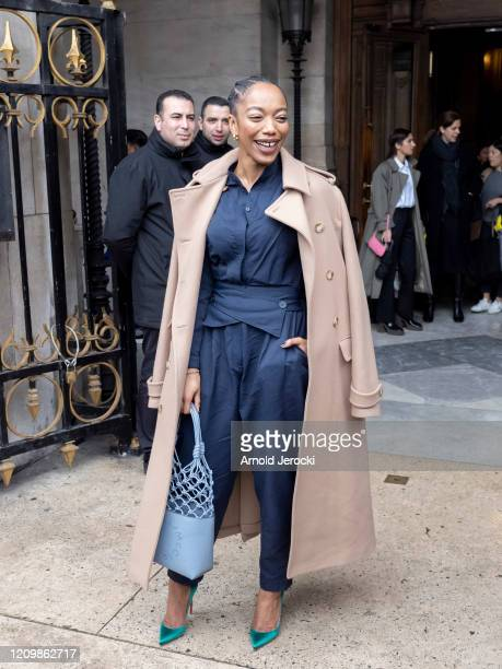 Naomi Ackie is seen during Paris Fashion Week Womenswear Fall/Winter 2020/2021 on March 02 2020 in Paris France