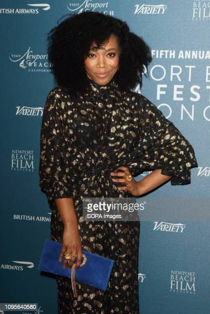 Naomi Ackie seen at the Newport Beach Film Festival 5th Annual UK Honors at London's Langham Hotel