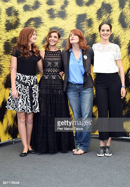 Naomi Armager Clotilde Courau MarieCastille MentionSchaar attend 'Le ciel attendra' photocall during the 69th Locarno Film Festival on August 8 2016...