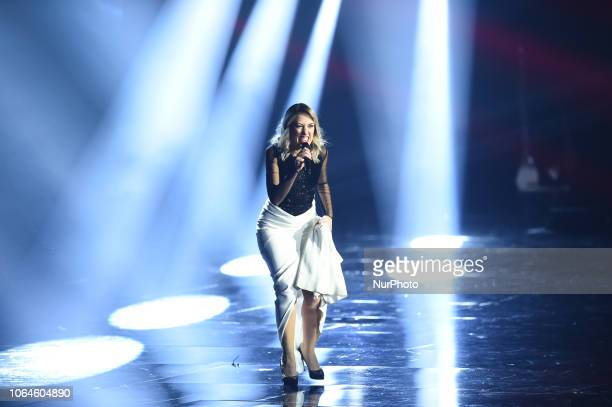 Naomi attends X Factor tv show at Teatro Linear Ciak on November 22 2018 in Milan Italy