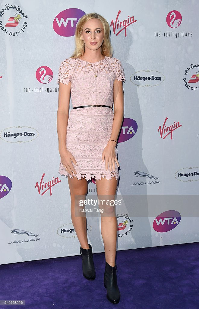 Naomi Broady arrives for the WTA Pre-Wimbledon Party at Kensington Roof Gardens on June 23, 2016 in London, England.