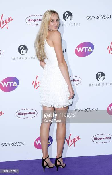 Naomi Broady attends the WTA PreWimbledon party at Kensington Roof Gardens on June 29 2017 in London England
