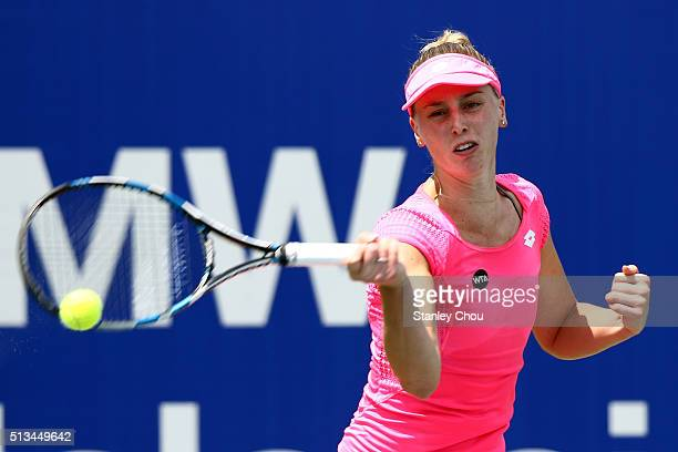 Naomi Broady of Great Britain in action during Day Four of the 2016 BMW Malaysian Open at Kuala Lumpur Golf Country Club on March 3 2016 in Kuala...