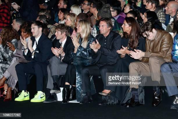 Naomi Campbell a guest Count Nikolai von Bismarck Model Kate Moss CEO of Dior Pietro Beccari his wife Elisabetta Beccari and Robert Pattinson attend...