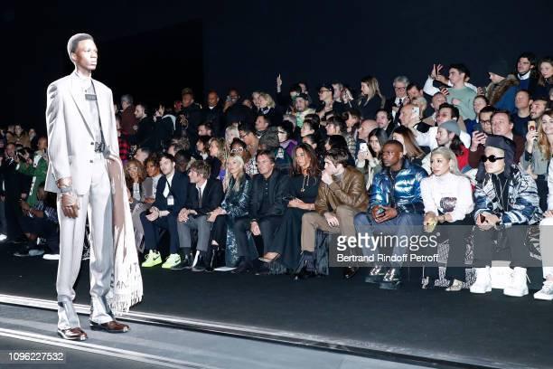 Naomi Campbell a guest Count Nikolai von Bismarck Model Kate Moss CEO of Dior Pietro Beccari his wife Elisabetta Beccari Robert Pattinson and Skepta...