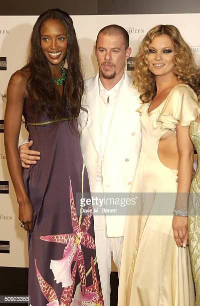 Naomi Campbell Alexander McQueen and Annabelle Nielsen arrive at the party and fashion show hosted by Alexander McQueen to mark the fifth anniversary...