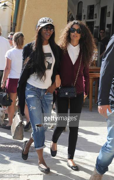 Naomi Campbell and Afef Jnifen are seen on May 4 2013 in Portofino Italy