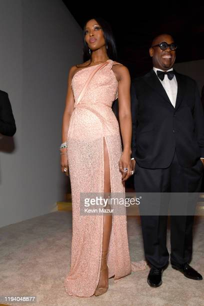 Naomi Campbell and Andre Harrell attend Sean Combs 50th Birthday Bash presented by Ciroc Vodka on December 14 2019 in Los Angeles California
