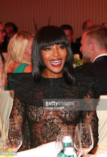 Naomi Campbell and Anne MeyerMinneman Editor in chief of GALA during the Gala Spa Awards on April 2 2016 in BadenBaden Germany