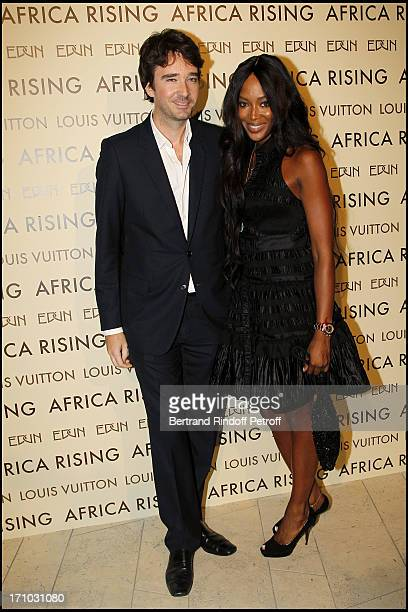 Naomi Campbell and Antoine Arnault at Every Journey Began In Africa Party For The Exhibition Africa Rising And The Discovery Of The Collaboration...