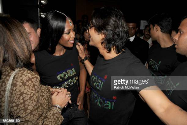 Naomi Campbell and Arjun Rampal attend VIKRAM CHATWAL HOTELS Presents MAI MUMBAI with Fashion For Relief at LAKME FASHION WEEK at The Grand Hyatt on...