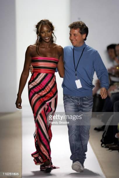 Naomi Campbell and Atil Kutoglu designer during Olympus Fashion Week Spring 2006 Atil Kutoglu Runway at Bryant Park in New York City New York United...
