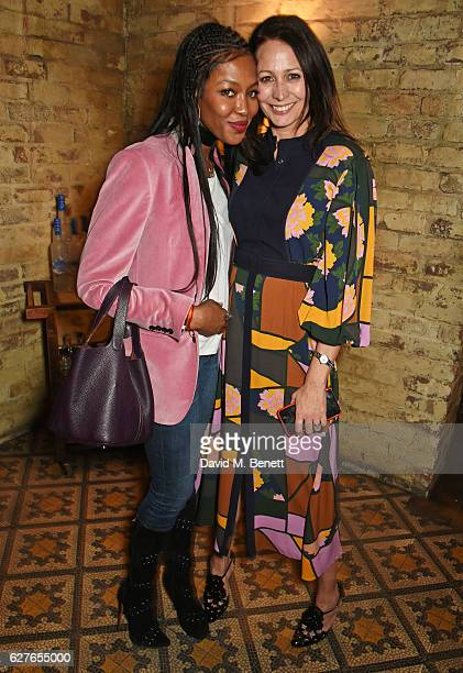 Naomi Campbell and Caroline Rush attend The Fashion Awards in partnership with Swarovski nominees' lunch hosted by the British Fashion Council with...