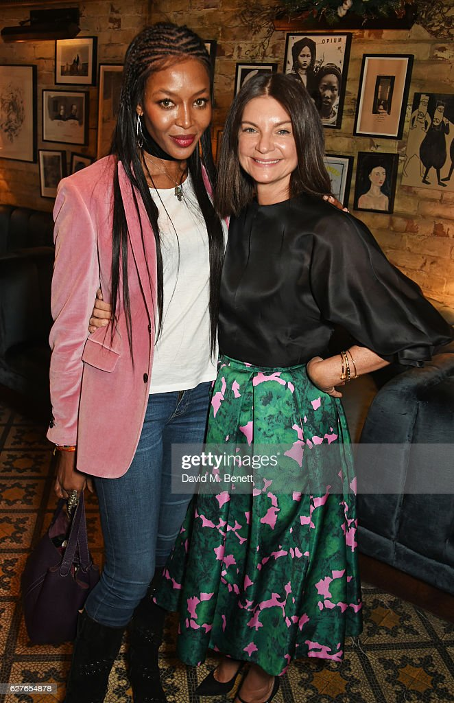 Naomi Campbell (L) and Dame Natalie Massenet attend The Fashion Awards in partnership with Swarovski nominees' lunch hosted by the British Fashion Council with Grey Goose at Little House Mayfair on December 4, 2016 in London, England.