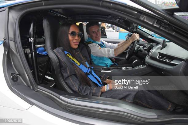 Naomi Campbell and Formula E CEO Alejandro Agag attend the ABB FIA Formula E HKT Hong Kong EPrix on March 10 2019 in Hong Kong