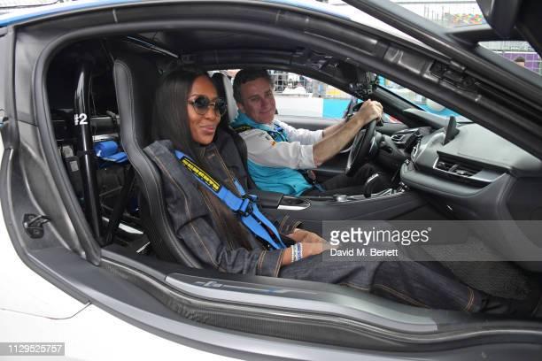 Naomi Campbell and Formula E CEO Alejandro Agag attend the ABB FIA Formula E HKT Hong Kong EPrix on March 10 2019 in Hong Kong