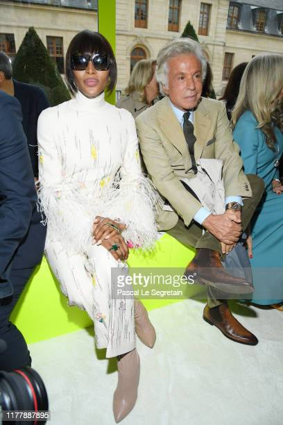 Naomi Campbell and Giancarlo Giammetti attend the Valentino Womenswear Spring/Summer 2020 show as part of Paris Fashion Week on September 29 2019 in...