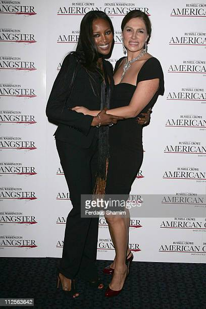 Naomi Campbell and guest attend the Screening of American Gangster at Curzon Mayfair on November 2, 2007 in London, England.