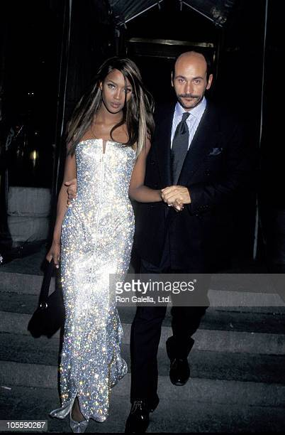 Naomi Campbell and guest during 1995 Costume Institute Gala at Metropolitan Museum of Art in New York City New York United States