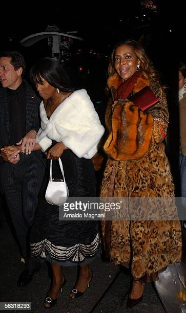 Naomi Campbell and her mom leave after attending the Broadway opening of 'The Color Purple' based on Alice Walkers Pulitzer Prizewinning novel and...