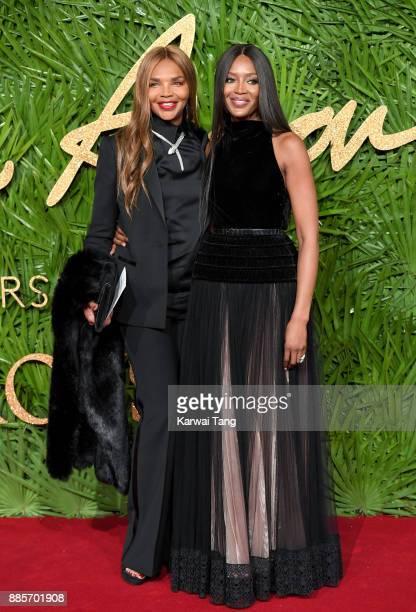 Naomi Campbell and her mother Valerie Morris attend The Fashion Awards 2017 in partnership with Swarovski at Royal Albert Hall on December 4 2017 in...