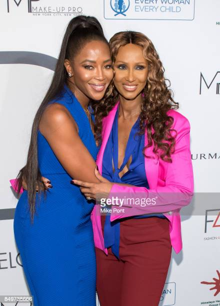 Naomi Campbell and Iman attend Fashion 4 Development's 7th Annual First Ladies Luncheon at The Pierre Hotel on September 19 2017 in New York City