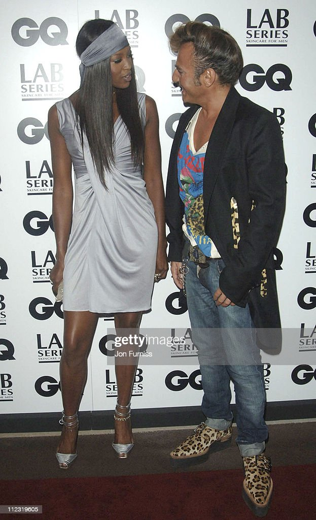 Naomi Campbell and John Galliano during GQ Men of the Year Awards - Inside Arrivals at Royal Opera House in London, Great Britain.