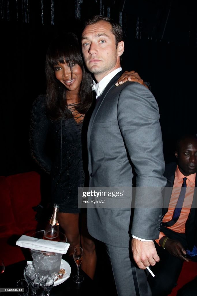 Naomi Campbell and Jude Law (R) attend the Diamonds Are Girls Best Friend event during the 64th Annual Cannes Film Festival held at Hotel Martinez on May 16, 2011 in Cannes, France.