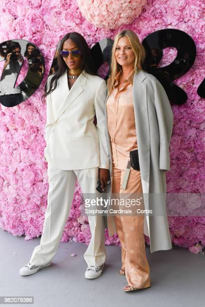 Naomi Campbell and Kate Moss attend the Dior Homme Menswear Spring/Summer 2019 show as part of Paris Fashion Week Week on June 23 2018 in Paris France