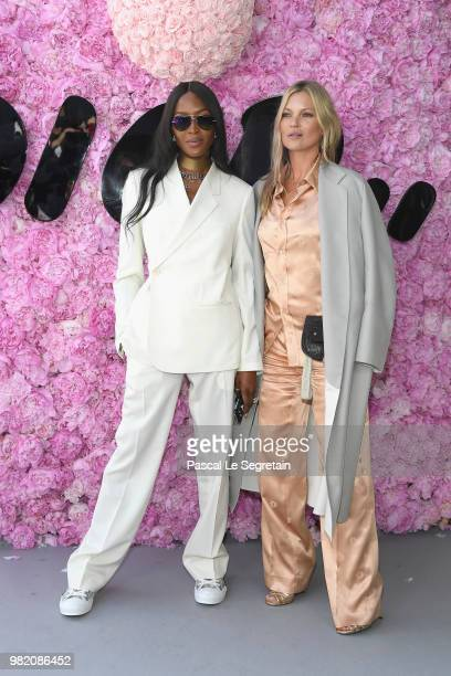 Naomi Campbell and Kate Moss attend the Dior Homme Menswear Spring/Summer 2019 show as part of Paris Fashion Week on June 23 2018 in Paris France