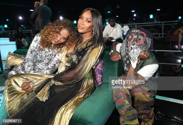 Naomi Campbell and Lil Uzi Vert attend the BET Awards 2021 at Microsoft Theater on June 27, 2021 in Los Angeles, California.