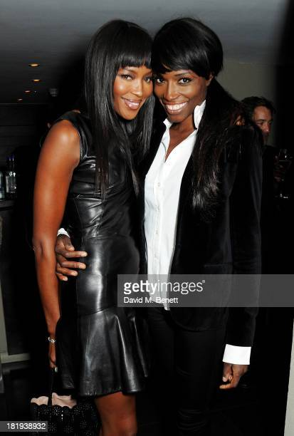Naomi Campbell and Lorraine Pascale attend the Sky Living rebrand dinner at the Greenhouse Restaurant on September 26 2013 in London England