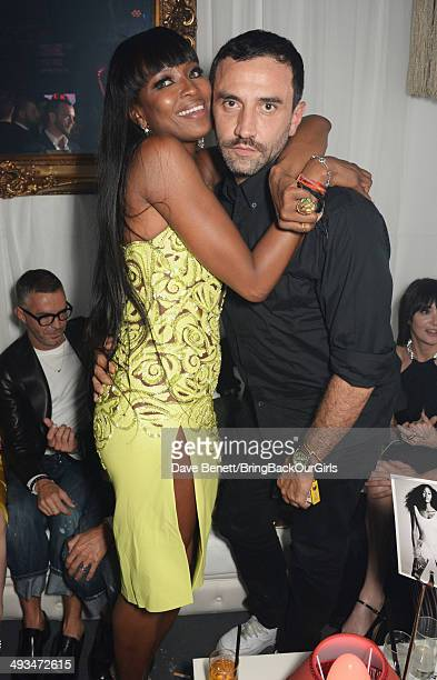 Naomi Campbell and Riccardo Tisci attends Naomi Campbell's birthday party at the Billionaire Club Sunset Lounge on May 23 2014 in Monaco Monaco