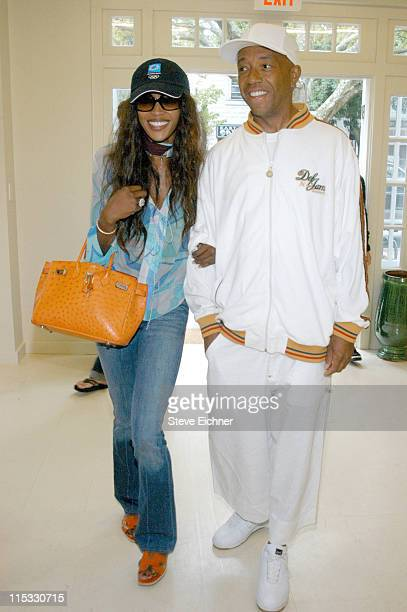 Naomi Campbell and Russell Simmons during Theory and Rush Philanthropic Arts Foundation Host Shopping Day to Benefit VH1's Save The Music at Theory...