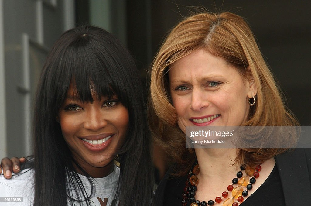 Naomi Campbell and Sarah Brown attends photocall to announce 'Fashion For Relief 2010' at Somerset House on January 25, 2010 in London, England.