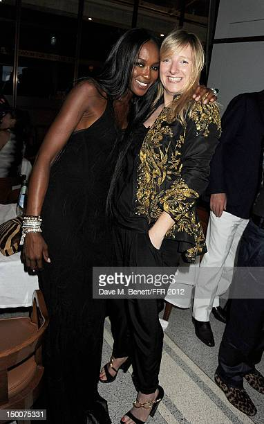 Naomi Campbell and Sarah Burton attend as Naomi Campbell hosts an Olympic Celebration Dinner in partnership with Fashion For Relief Interview...