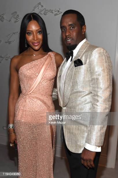 Naomi Campbell and Sean Combs attend Sean Combs 50th Birthday Bash presented by Ciroc Vodka on December 14 2019 in Los Angeles California